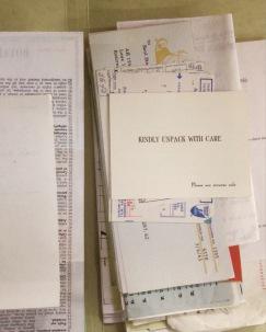 Steinberg papers_sorting correspondence