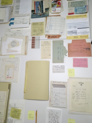 Steinberg Papers_Sorting orphan enclosures